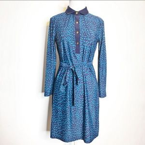 Jude Connally belted collared shirt dress